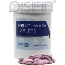 Disifin Antiseptic Mouthwash Thymol Effervescent Tablets - Pink (Tub of 1000)